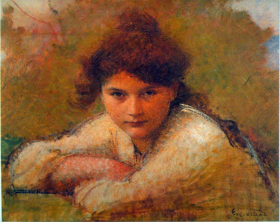Girl Resting on her arms - Eugene Vincent Vidal