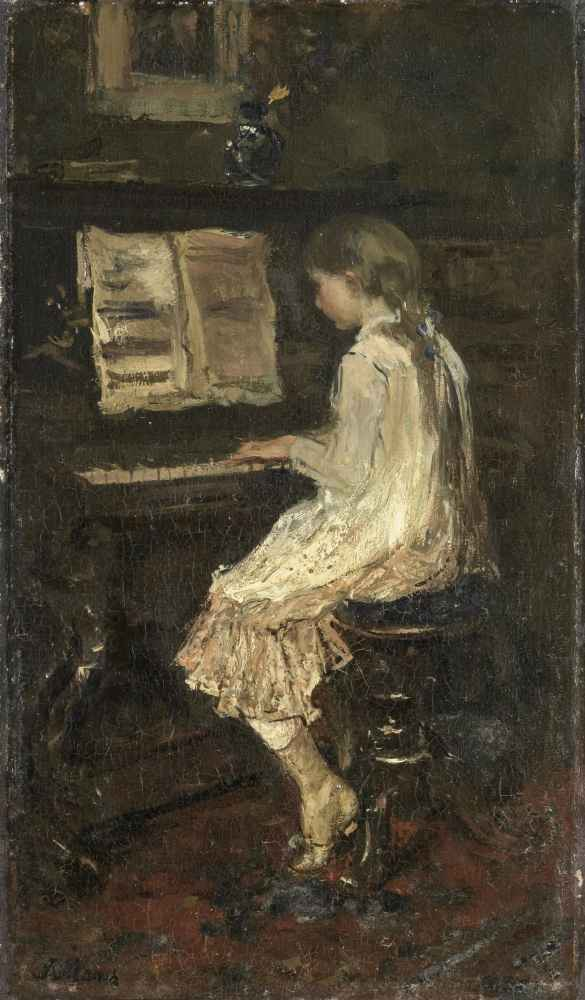 Girl at the Piano - Matthijs Maris