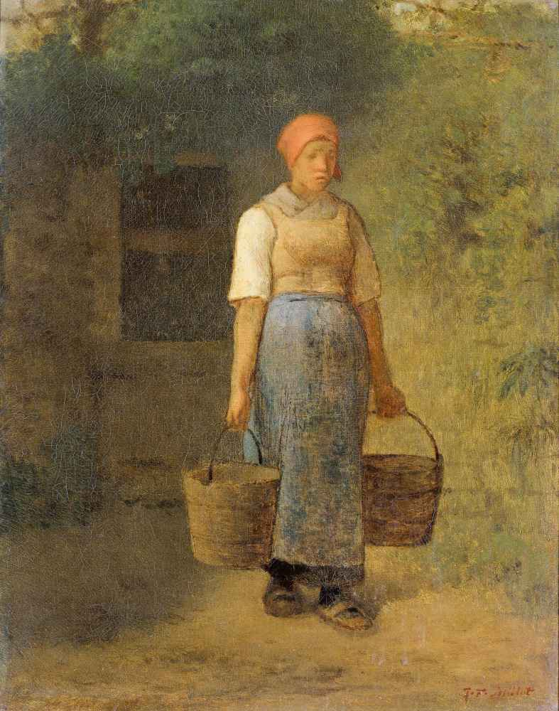 Girl carrying Water - Jean Francois Millet