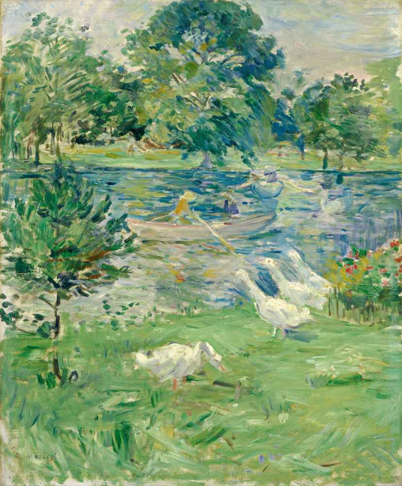 Girl in a Boat with Geese - Berthe Morisot