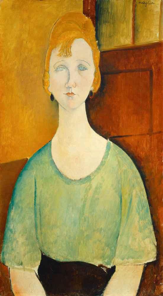Girl in a Green Blouse - Amedeo Modigliani