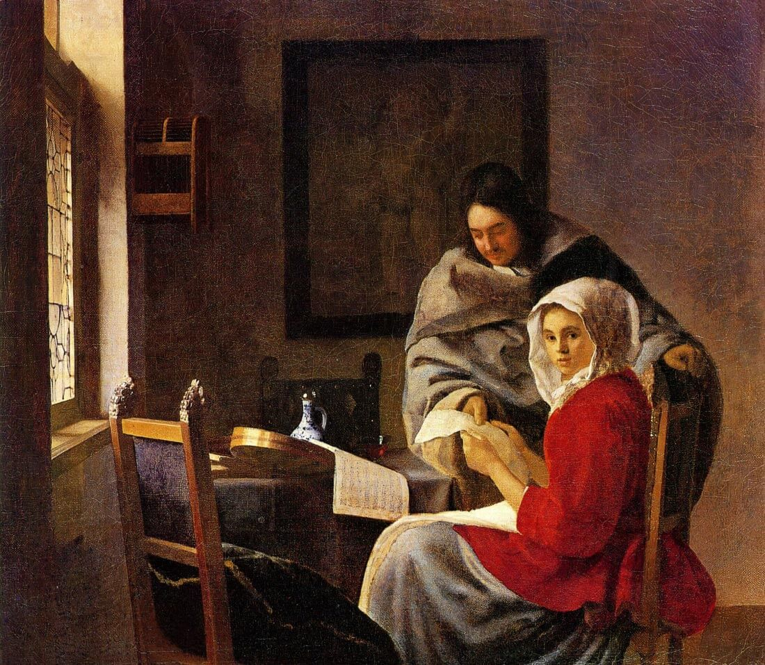 Girl interrupted in her music 1 - Vermeer