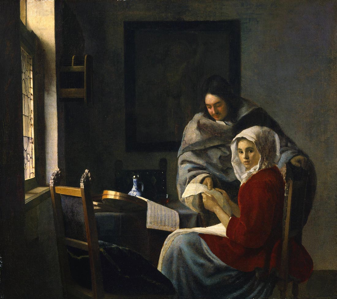 Girl interrupted in her music 2 - Vermeer