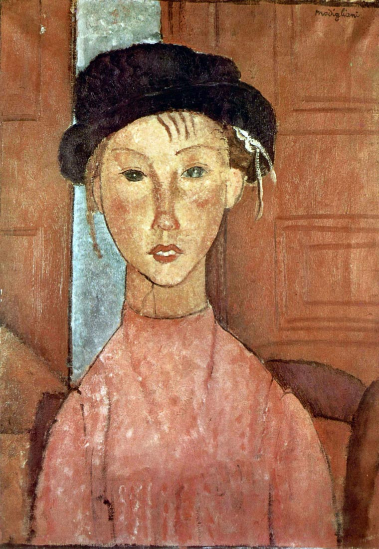 Girl with Hat - Modigliani