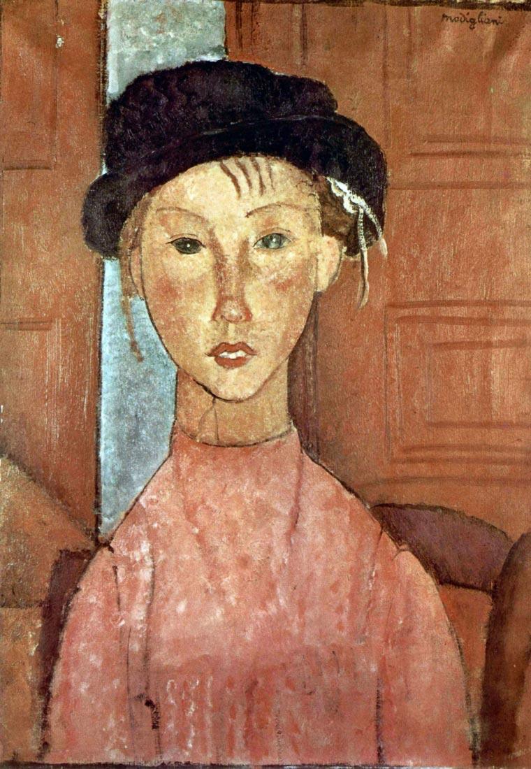 Girl with Hat - Modigliani