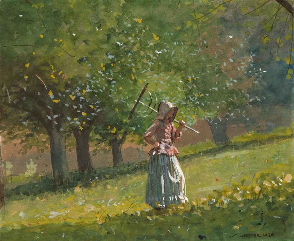 Girl with Hay Rake - Winslow Homer