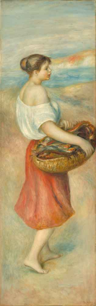 Girl with a Basket of Fish - Auguste Renoir