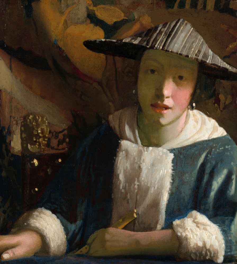 Girl with a Flute 2 - Jan Vermeer