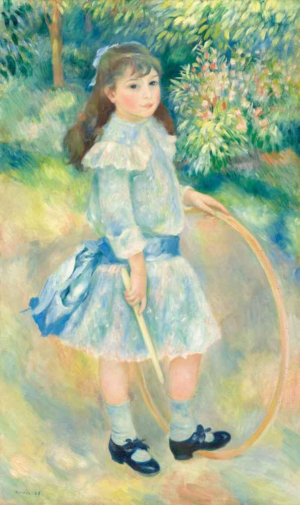 Girl with a Hoop - Auguste Renoir