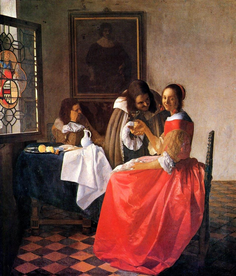 Girl with a wine glass - Vermeer