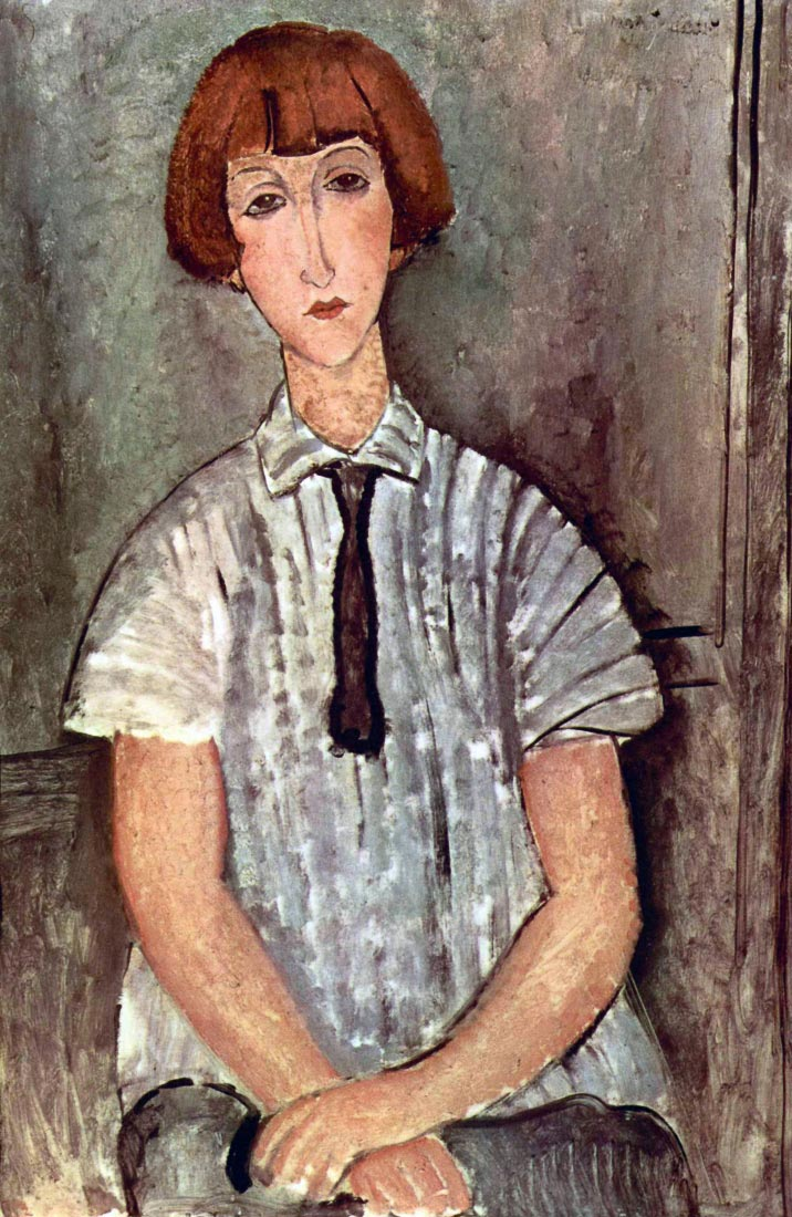 Girl with blouse - Modigliani