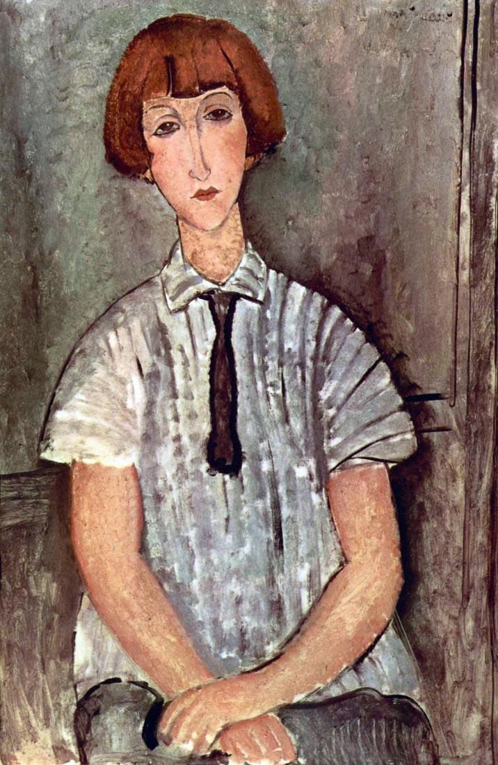 Girl with blouse - Modigliani