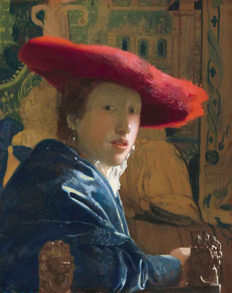 Girl with the Red Hat - Jan Vermeer