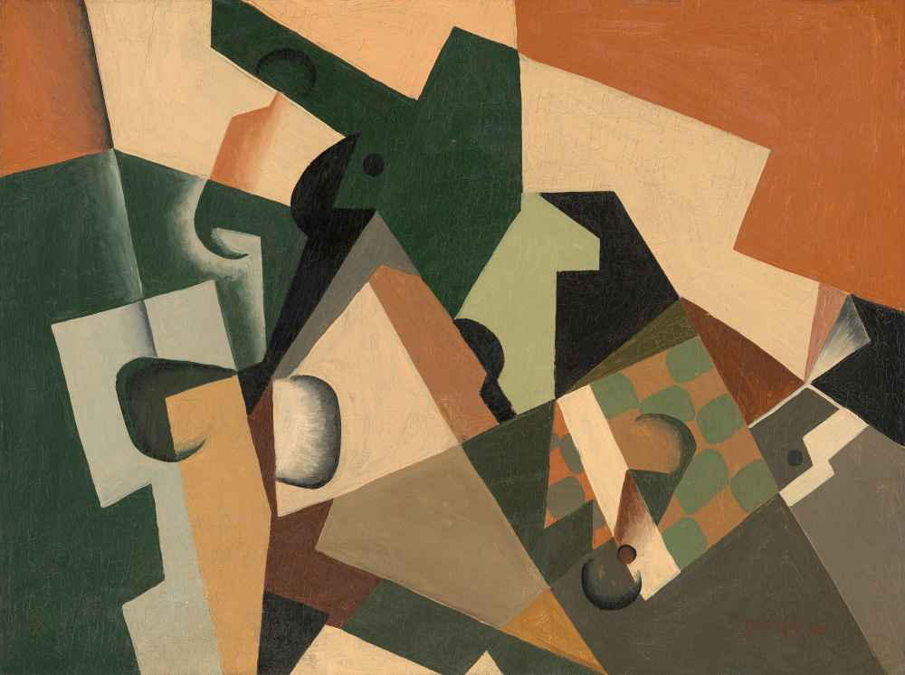 Glass and Checkerboard - Juan Gris