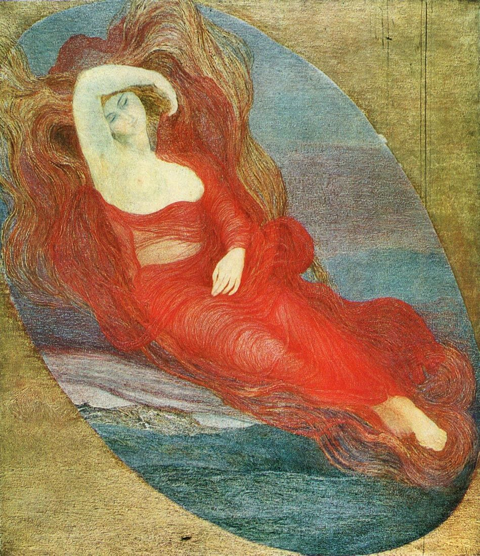 Goddess of love - Giovanni Segantini