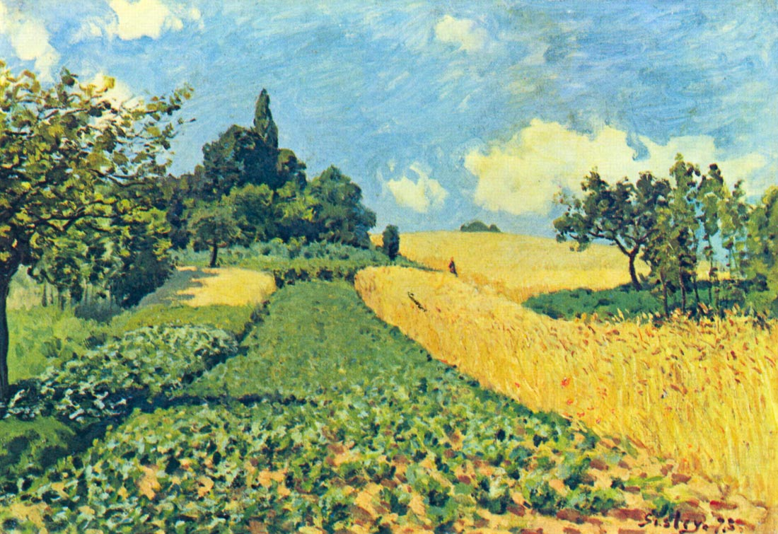 Grain fields on the hills of Argenteuil - Sisley