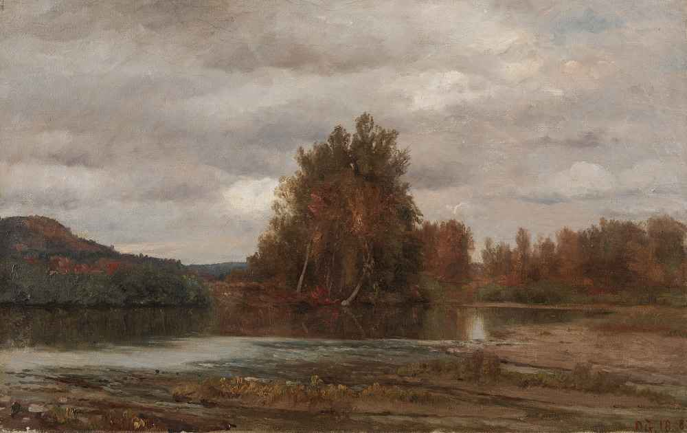 Gray Day on the Esopus - Jasper Francis Cropsey