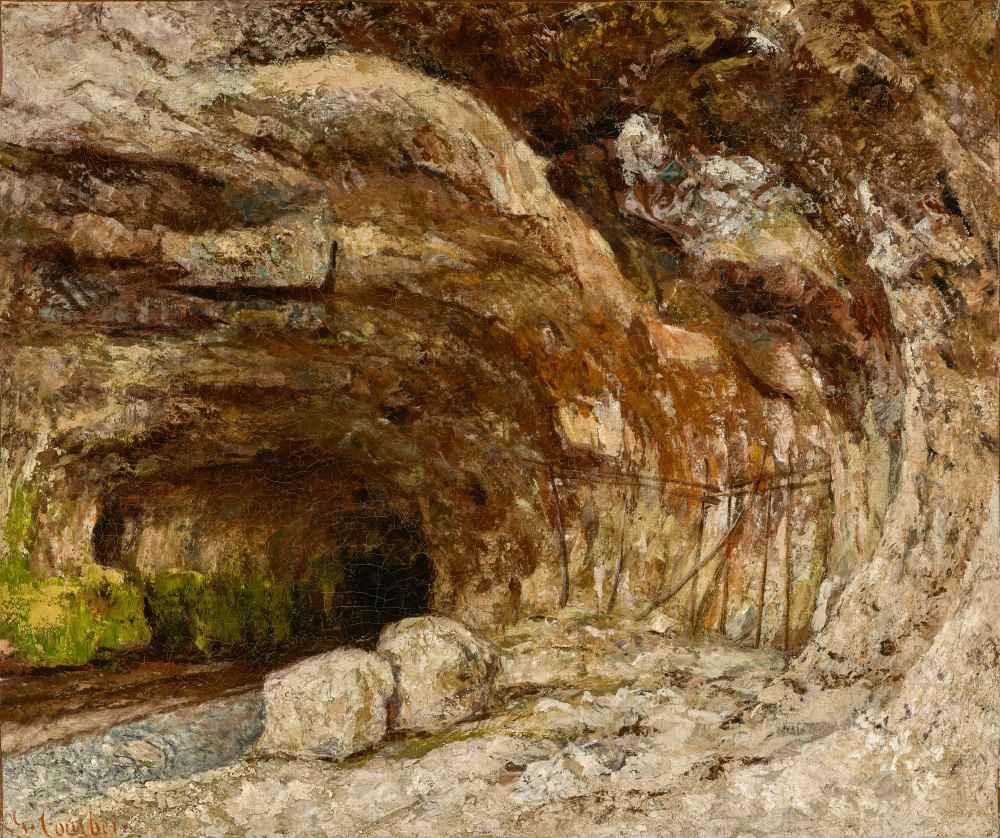 Grotto of Sarrazine near Nans-sous-Sainte-Anne - Gustave Courbet
