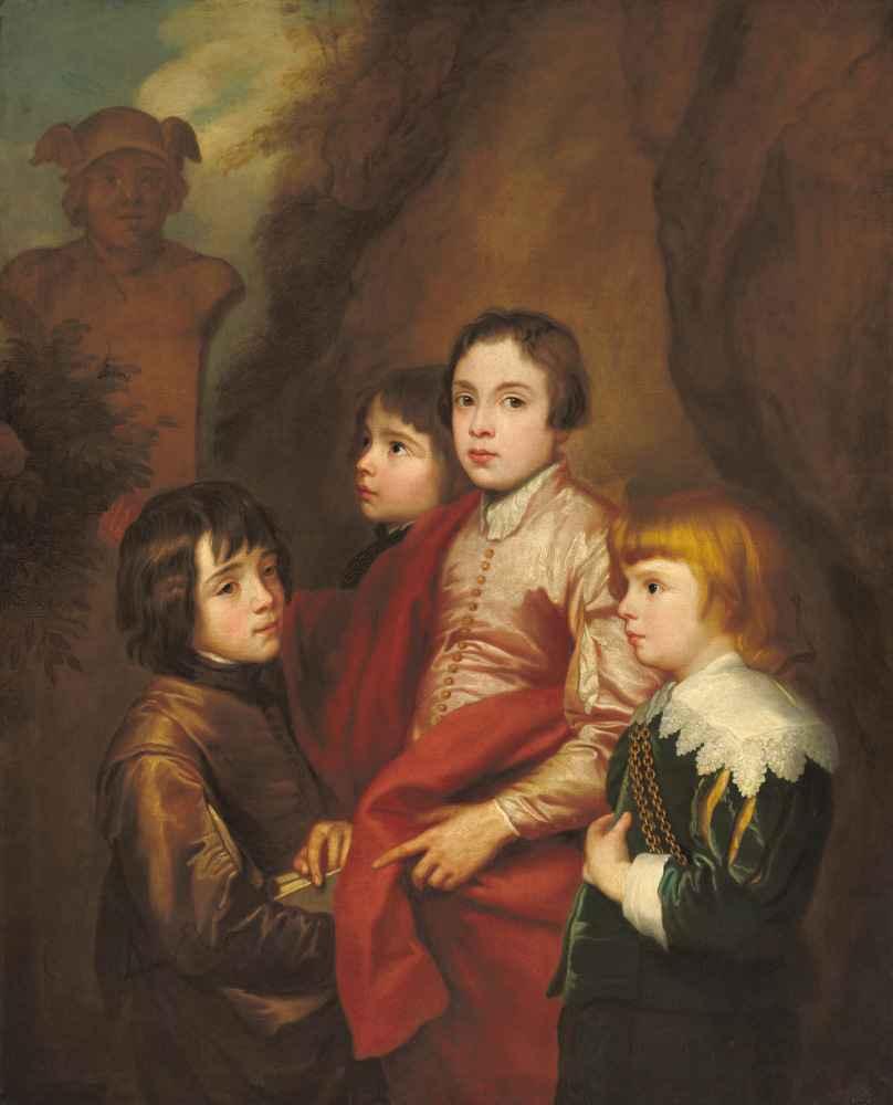 Group of Four Boys - Antoon van Dyck