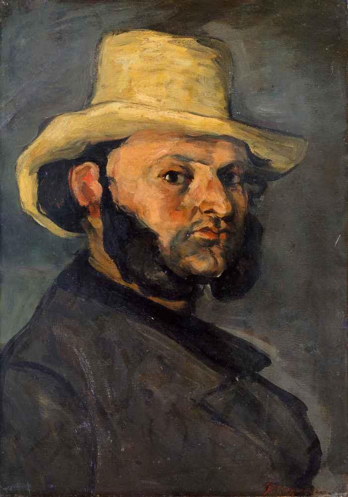 Gustave Boyer (b. 1840) in a Straw Hat - Paul Cezanne