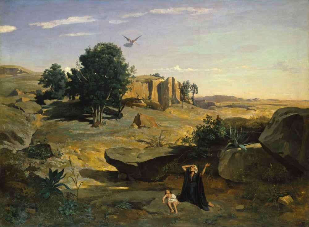 Hagar in the Wilderness - Jean Baptiste Camille Corot