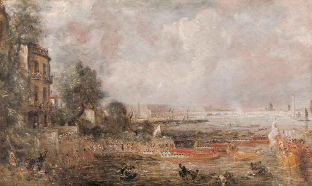 Half-size Sketch for The Opening of Waterloo Bridge - John Constable