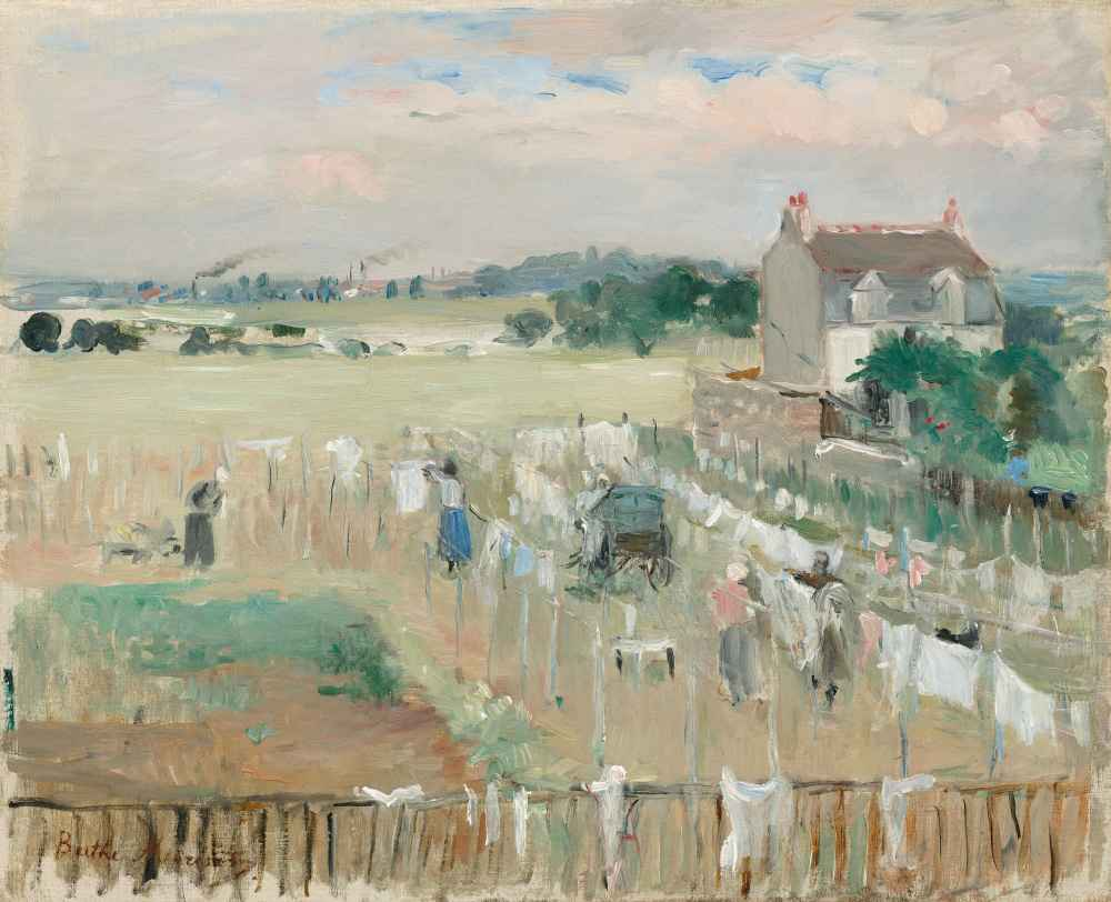 Hanging the Laundry out to Dry - Berthe Morisot