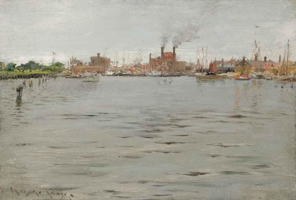 Harbor Scene, Brooklyn Docks - William Merritt Chase