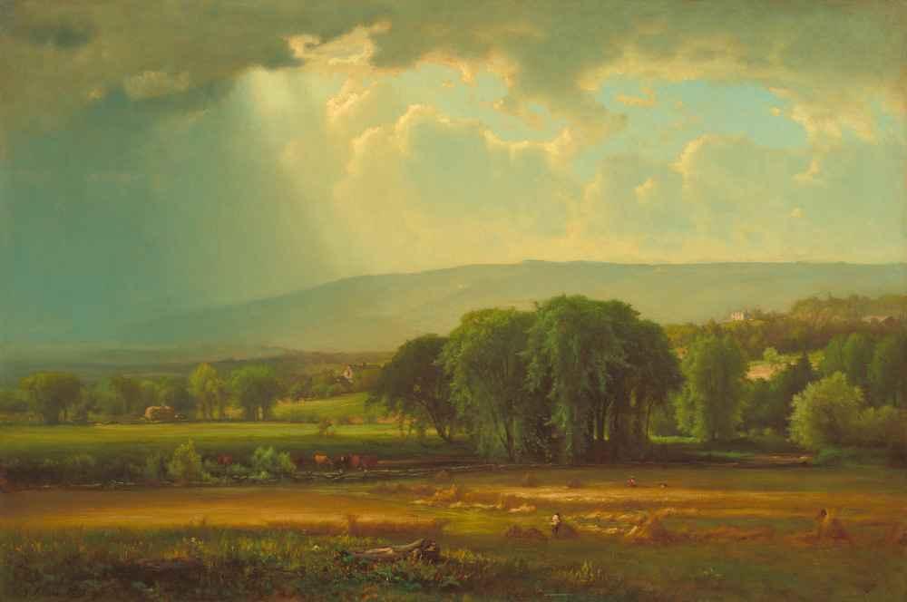 Harvest Scene in the Delaware Valley - George Inness