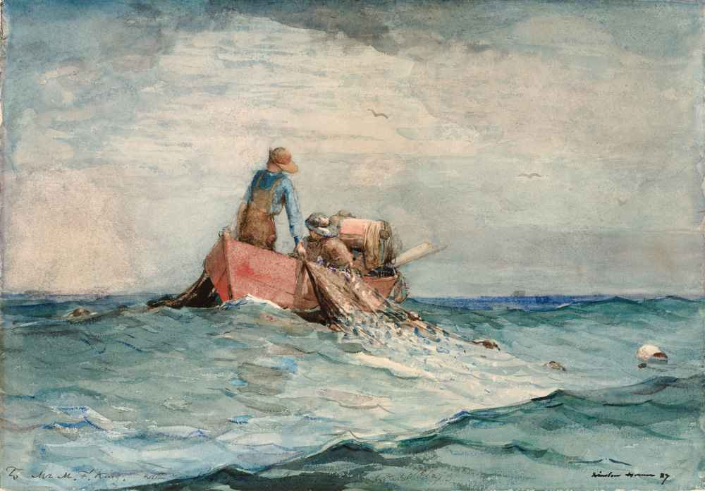 Hauling in the Nets - Winslow Homer