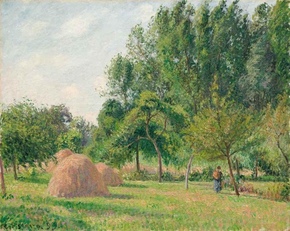 Haystacks, Morning, Éragny - Camille Pissarro