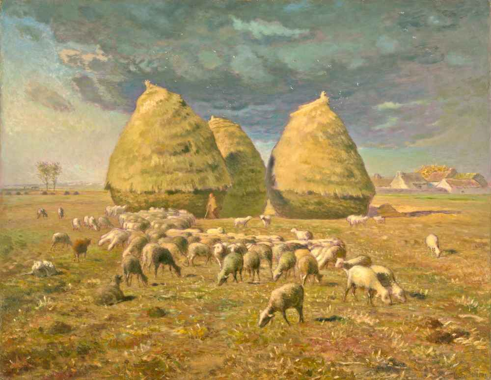 Haystacks - Autumn - Jean Francois Millet