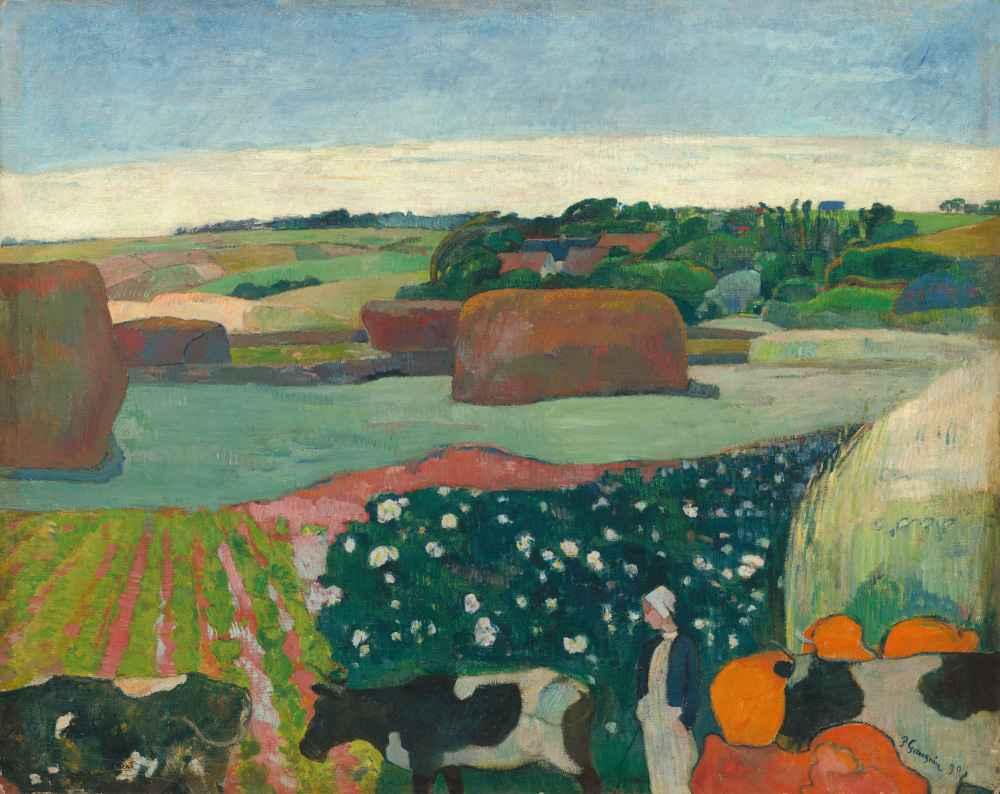 Haystacks in Brittany - Paul Gauguin