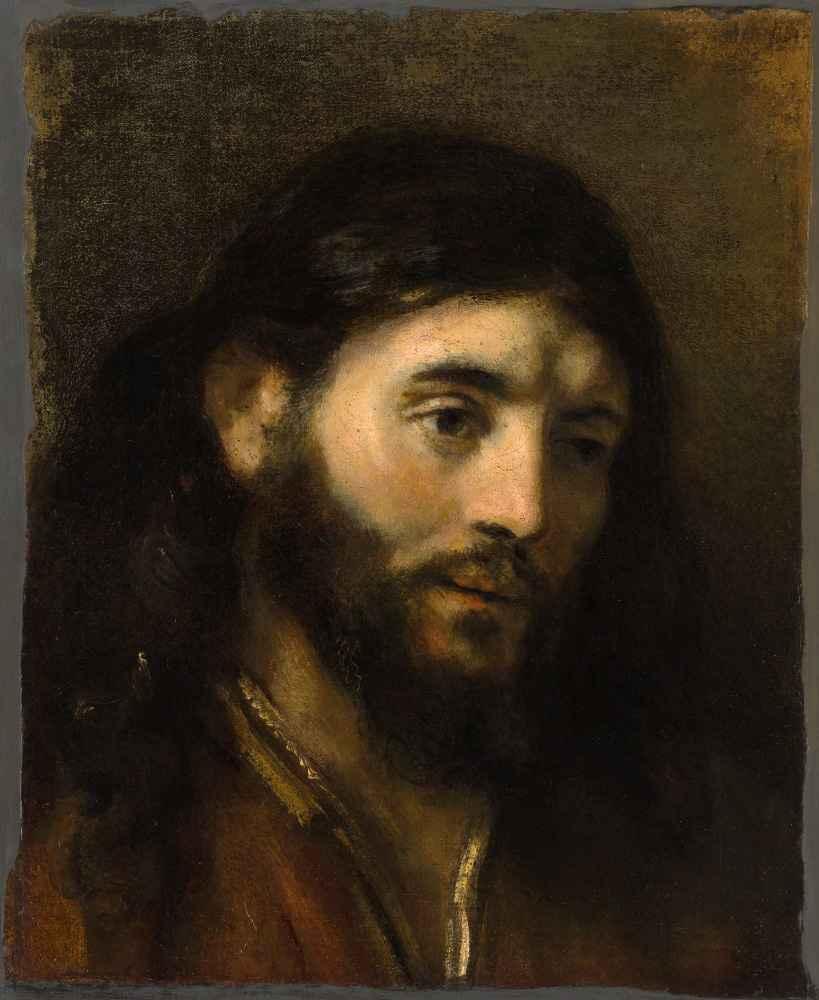 Head of Christ - Rembrandt Harmenszoon van Rijn