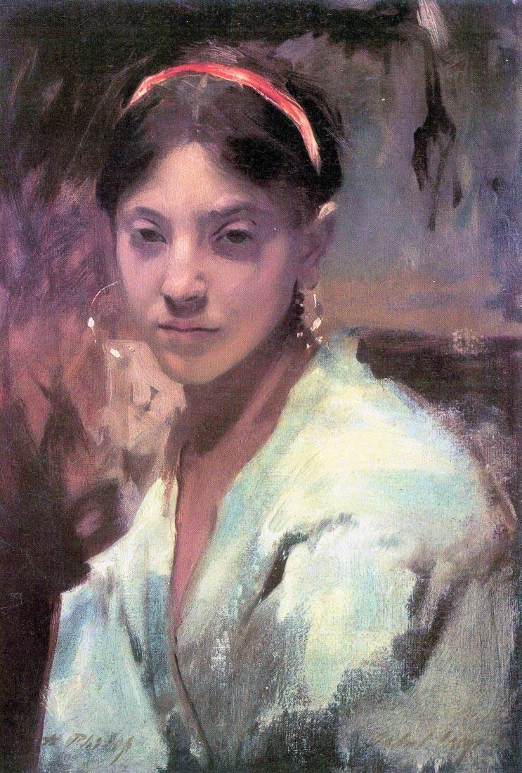 Head of a Capri Girl - John Singer Sargent