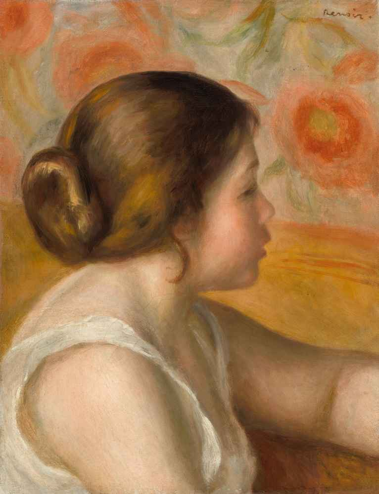 Head of a Young Girl 2 - Auguste Renoir