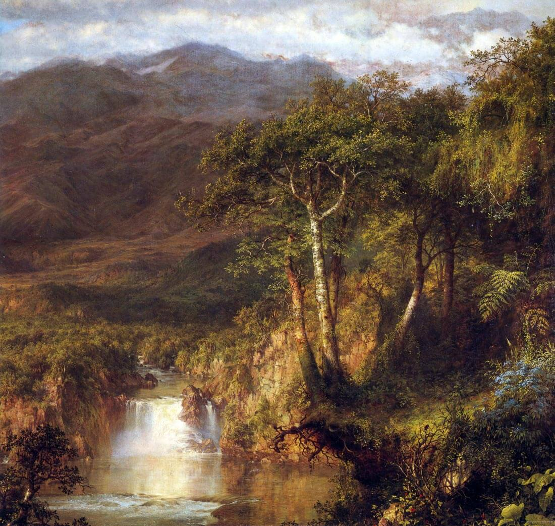 Heart of the Andes Detail - Frederick Edwin Church