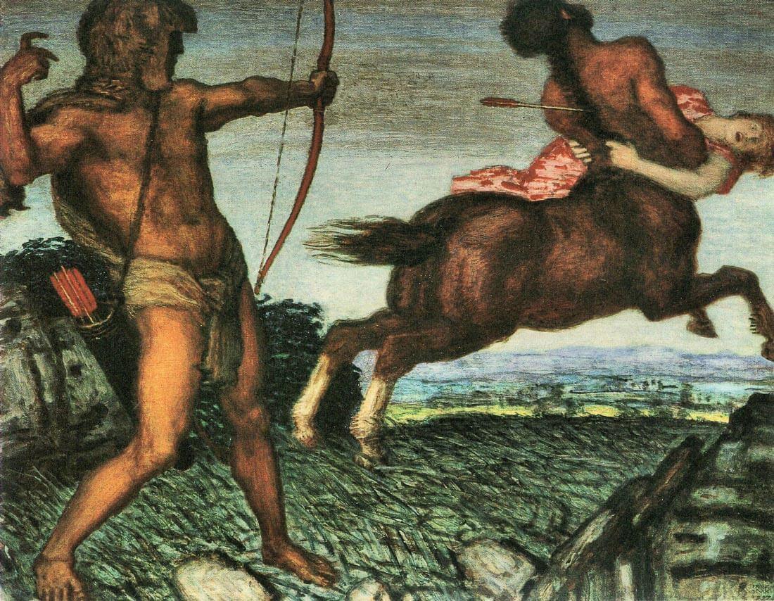 Hercules and Nessus - Franz von Stuck