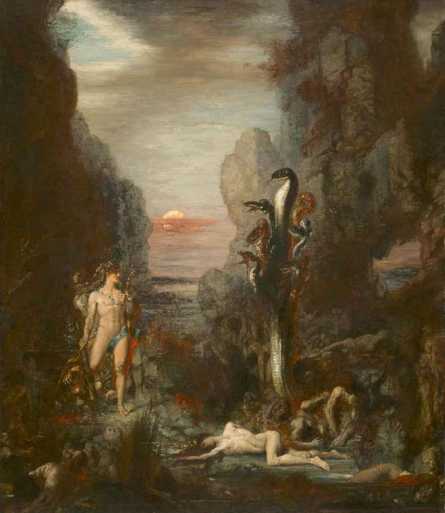 Hercules and the Lernaean Hydra - Gustave Moreau