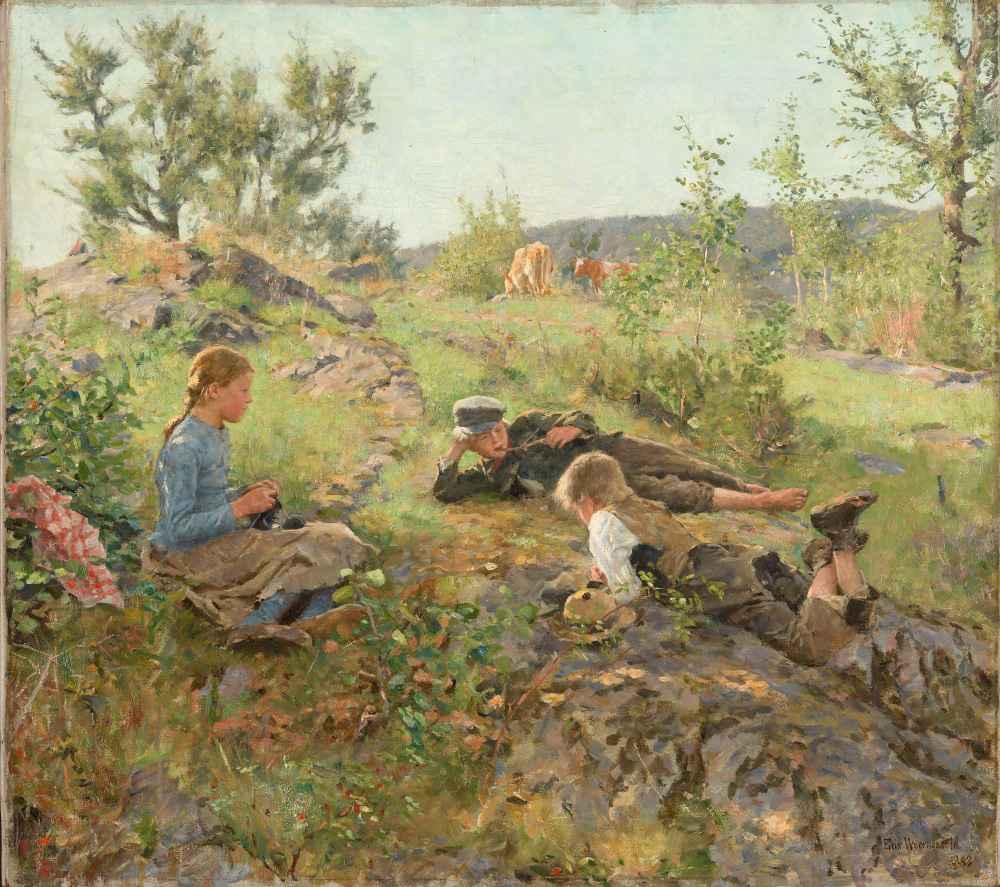 Herders at Tåtøy - Erik Werenskiold