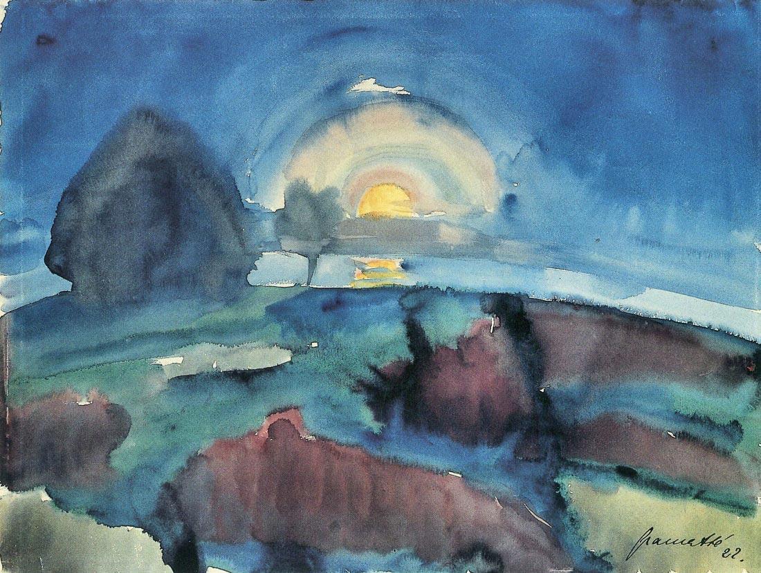 Hiddensoe (moon stairway) - Walter Gramatte