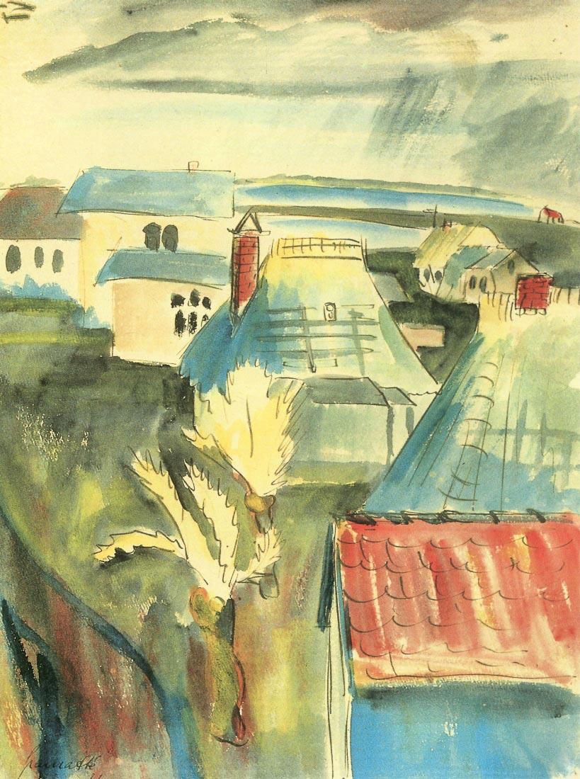 Hiddensoe after the rain - Walter Gramatte