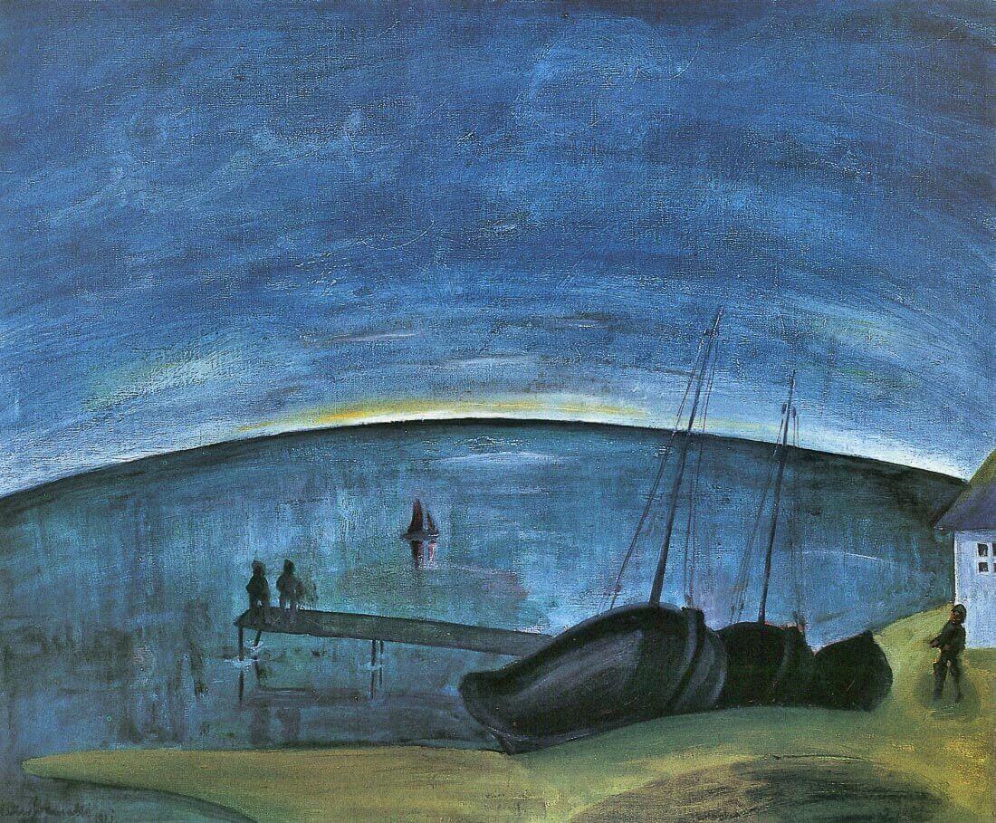 Hiddensoe morning on the sea - Walter Gramatte