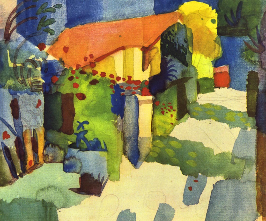 House in the Garden - August Macke