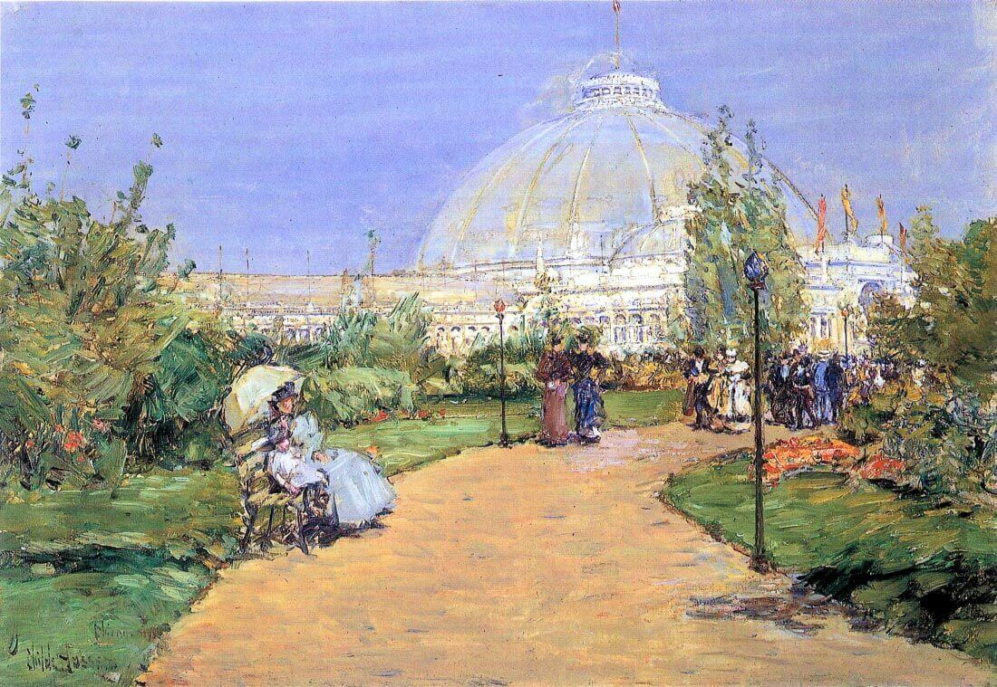 House of gardens, World Columbian Exposition, Chicago - Hassam