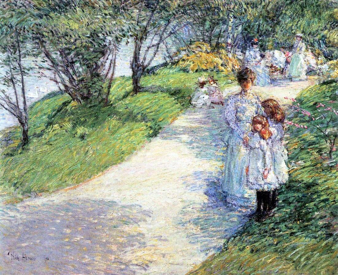 In Central Park - Hassam