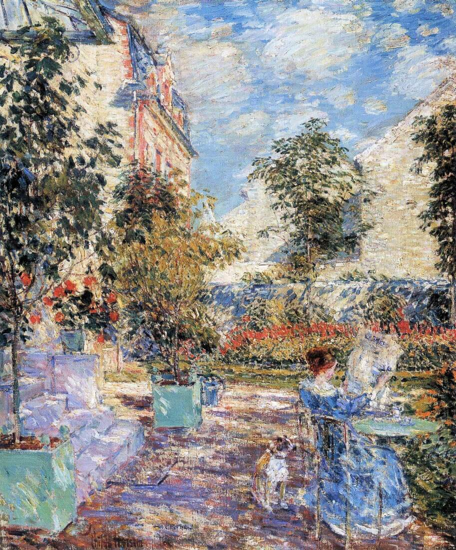 In a French garden - Hassam