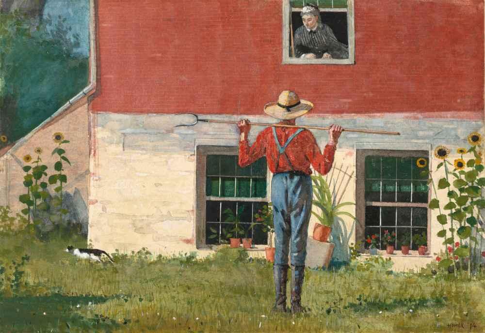In the Garden (Rustic Courtship) - Winslow Homer