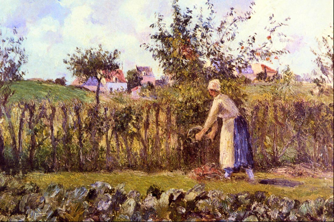 In the Orchard - Pissarro