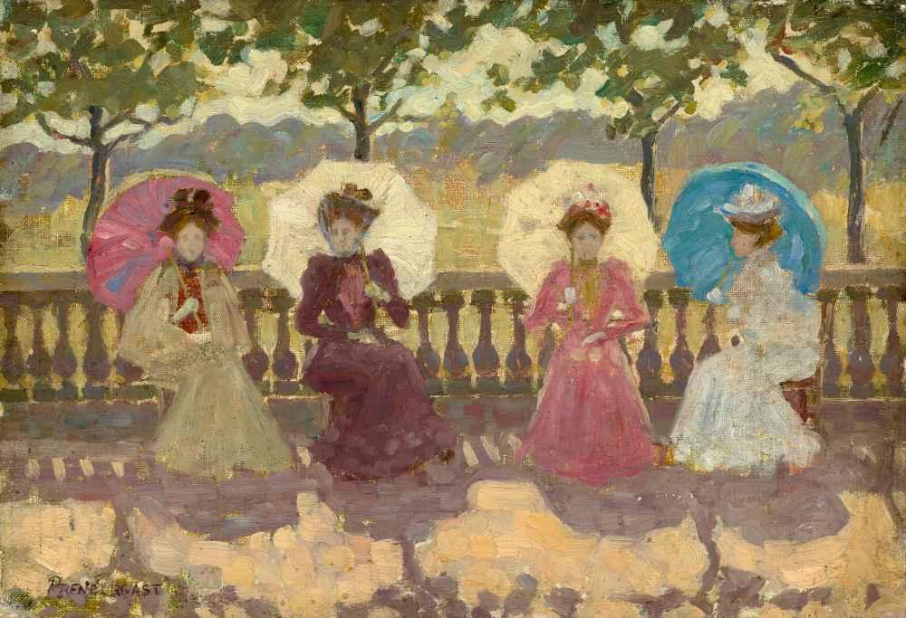 In the Park, Paris - Maurice Brazil Prendergast